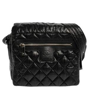 Chanel Black Quilted Nylon Coco Cocoon Messenger