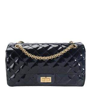 Chanel Blue Patent Leather Reissue Flap Bag