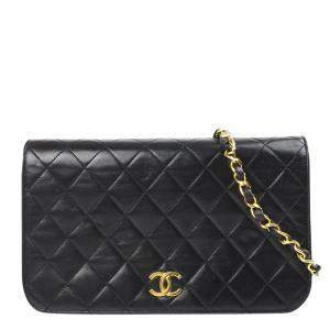 Chanel Black Leather CC Wallet on Chain Bag