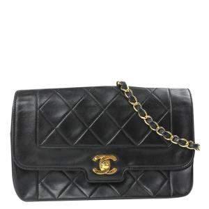 Chanel Black Leather Diana Bag