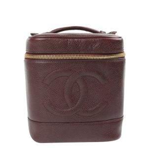 Chanel Brown Leather CC Vanity Bag