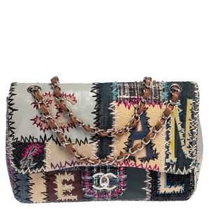 Chanel Multicolor Patchwork Jumbo Classic Flap Bag