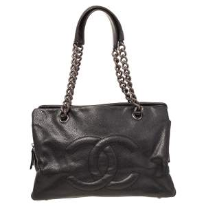 Chanel Black Caviar Leather Petite Timeless Tote
