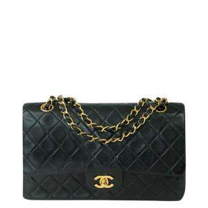 Chanel Black Leather Classic Double Flap Bag