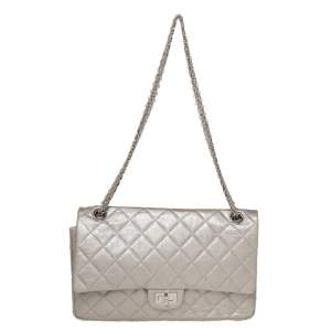 Chanel Light Grey Quilted Leather Reissue 2.55 Classic 226 Flap Bag