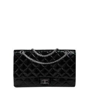 Chanel Black Patent Leather 2.55 Reissue Flap Bag