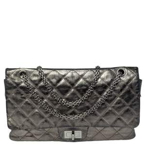 Chanel Metallic Grey Quilted Leather Reissue 2.55 Classic 227 Flap Bag
