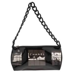 Chanel Black PVC Maison Window Print Baguette Bag