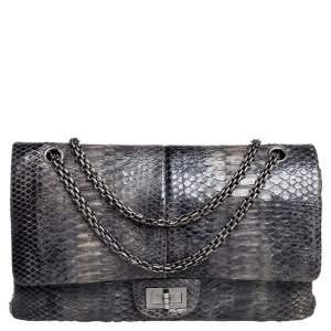 Chanel Grey Python Reissue 2.55 Classic 227 Flap Bag