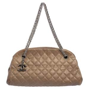 Chanel Beige Caviar Leather Small Just Mademoiselle Bowler Bag