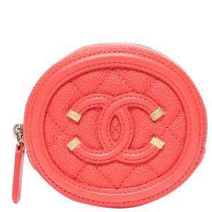 Chanel Pink Quilted Leather CC Wallet