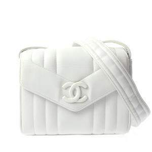 Chanel White 1994 Quilted Caviar Leather Vintage Mini Flap Bag