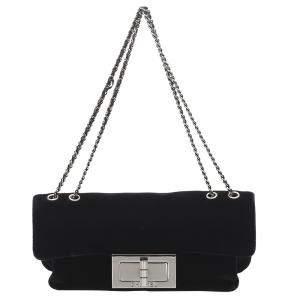 Chanel Black Velour Reissue Shoulder Bag