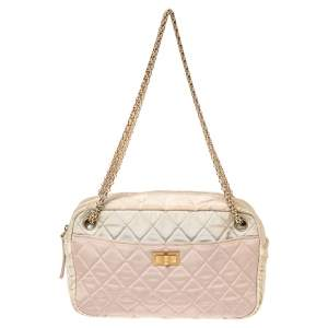 Chanel Multicolor Quilted Canvas Reissue 2.55 Camera Bag