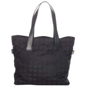 Chanel Black Nylon New Travel Line Tote Bag
