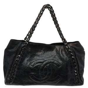Chanel Black Leather Modern Chain Tote