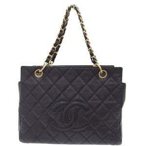 Chanel Black Caviar Leather Tote Bag