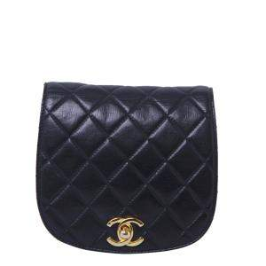 Chanel Black Quilted Leather CC Waist Bag