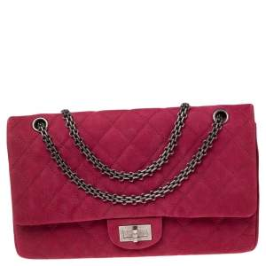 Chanel Pink Caviar Suede Reissue 2.55 Classic 227 Flap Bag