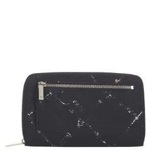 Chanel Black Travel Line Zip Around Wallet