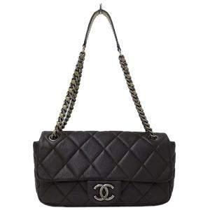 Chanel Brown Caviar Leather Flap Shoulder Bag