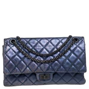 Chanel Metallic Purple Quilted Leather Reissue 2.55 Classic 226 Flap Bag
