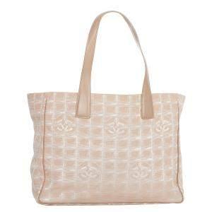 Chanel Brown Nylon Fabirc New Travel Line Tote Bag