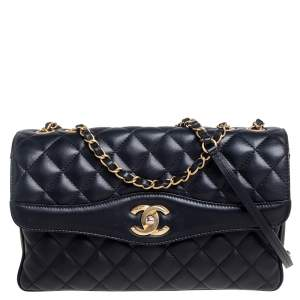 Chanel Black Quilted Leather Daily Companion Flap Bag