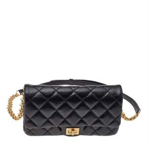 Chanel Black Quilted Leather Reissue Waist Bag