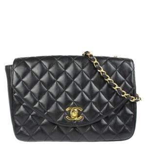 Chanel Black Leather Vintage Single Flap Bag