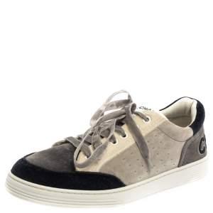 Chanel Multicolor Velvet Logo Sneakers Size 39.5