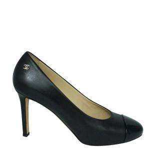 Chanel Black Leather  Pumps Size 38