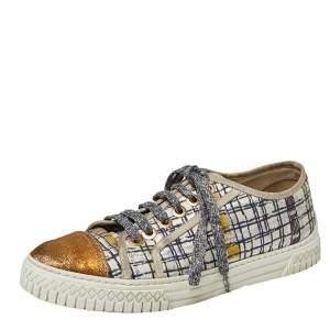 حذاء رياضي شانيل تويد سي سي ترينر متعدد الألوان مقاس 37