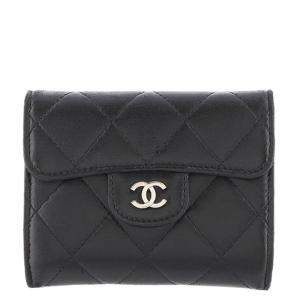 Chanel Black Matelasse Leather Coin Purse
