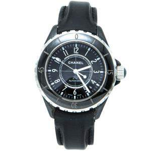Chanel Black Ceramic J12 Unisex Watch 38MM