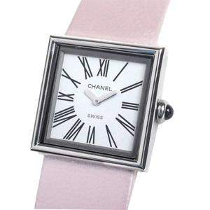 Chanel White Stainless Steel Mademoiselle Women's Wristwatch 23 MM