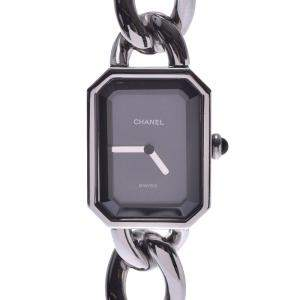 Chanel Black Stainless Steel Premiere Quartz Women's Wristwatch 20 MM