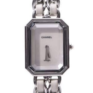 Chanel White Stainless Steel Premiere Quartz Women's Wristwatch 20 MM