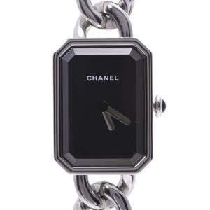 Chanel Black Stainless Steel Premiere H3248 Women's Wristwatch 20 x 26 MM