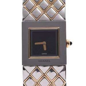 Chanel Black Gold Plated Stainless Steel Matrasse Women's Wristwatch 18 MM