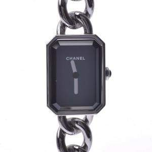 Chanel Black Stainless Steel Premiere H3248 Women's Wristwatch 20 x 26 MM
