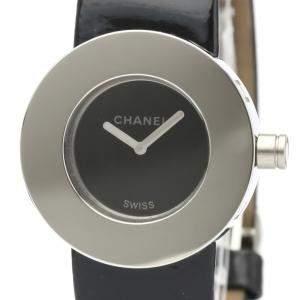Chanel Black Stainless Steel La Ronde Quartz H0579 Women's Wristwatch 29 MM