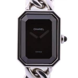 Chanel Black Stainless Steel Premiere XL H0452 Women's Wristwatch 19.5 x 15 MM