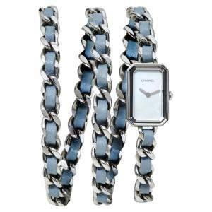 ساعة يد نسائية شانيل كوارتز أتس4327 بريميار روك ستانلس ستيل صدف 16 مم