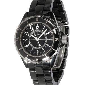 Chanel Black Stainless Steel And Ceramic J12 H0682 Women's Wristwatch 33.5 MM