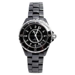Chanel Black Ceramic J12 H1626 Women's Wristwatch 38 mm
