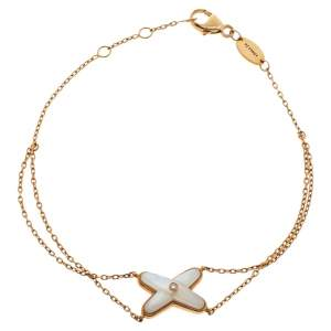 Chaumet Jeux de Liens Diamond Mother of Pearl 18K Rose Gold Bracelet