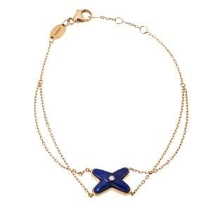 Chaumet Jeux de Liens Diamond Lapis Lazuli 18K Rose Gold Bracelet