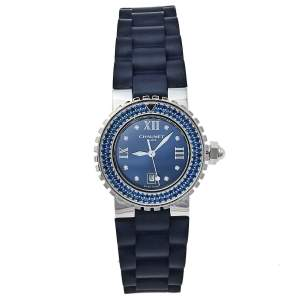 Chaumet Blue Stainless Steel Class One Quartz Women's Wristwatch 33 mm