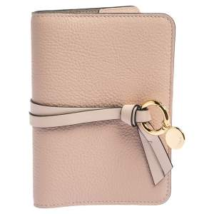 Chloe Peach Leather Passport Holder